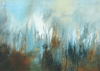Autumn Blue Skies - 94 x 54 cm - Acrylic and mixed media on canvas - 2007