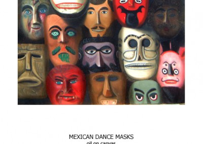 Mexican dance masks