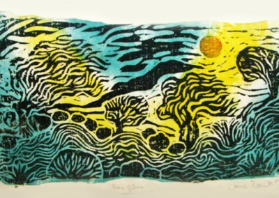 Ray of Sun-Woodcut-Size-45 x 62cm